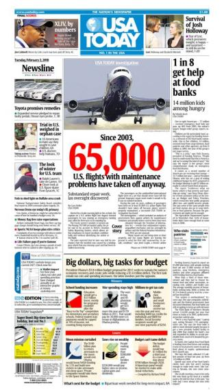 02/02/2010 Issue of USA TODAY