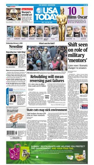 02/03/2010 Issue of USA TODAY