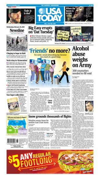 02/10/2010 Issue of USA TODAY
