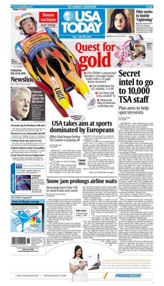 02/12/2010 Issue of USA TODAY