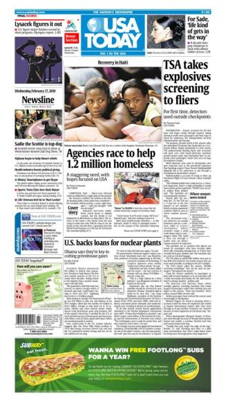 02/17/2010 Issue of USA TODAY