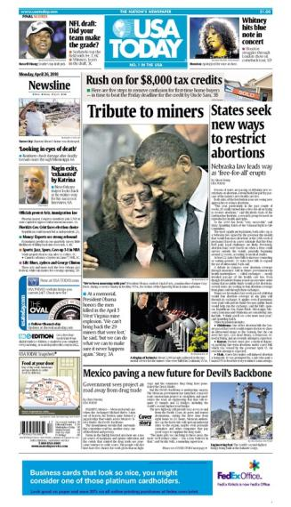 04/26/2010 Issue of USA TODAY