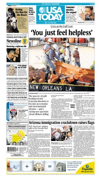 04/30/2010 Issue of USA TODAY