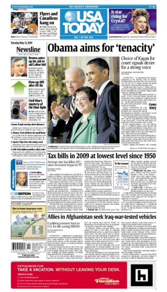 05/11/2010 Issue of USA TODAY