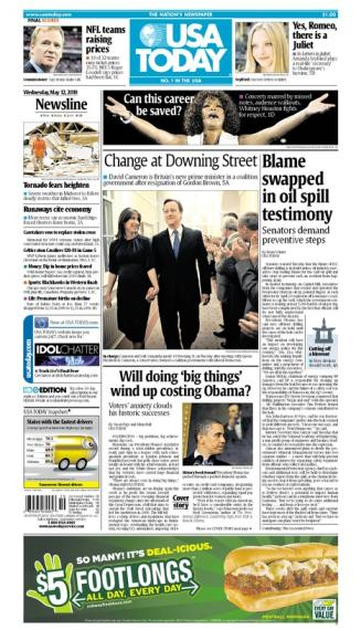 05/12/2010 Issue of USA TODAY