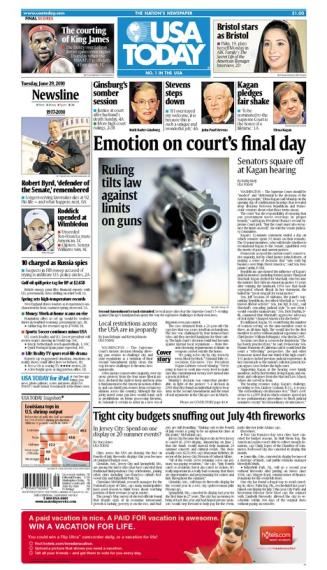 06/29/2010 Issue of USA TODAY