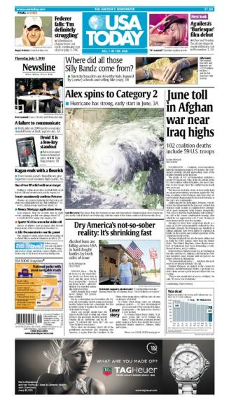 07/01/2010 Issue of USA TODAY