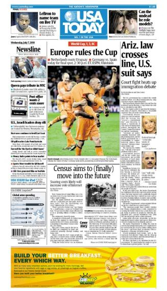 07/07/2010 Issue of USA TODAY