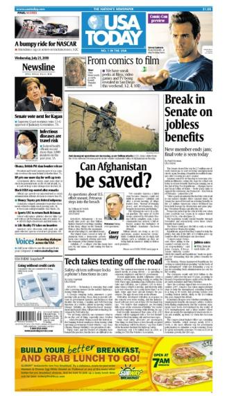 07/21/2010 Issue of USA TODAY