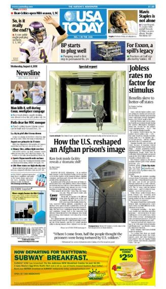 08/04/2010 Issue of USA TODAY