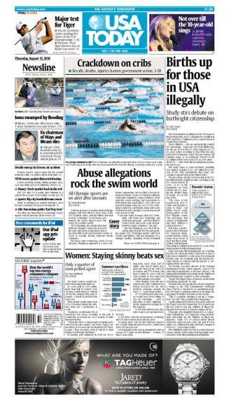 08/12/2010 Issue of USA TODAY