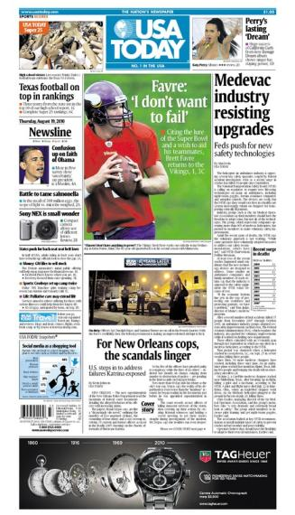 08/19/2010 Issue of USA TODAY