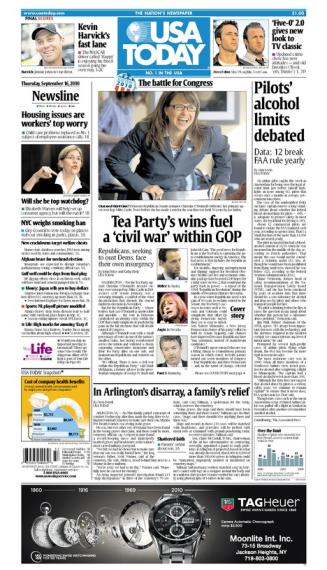 09/16/2010 Issue of USA TODAY