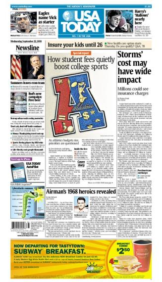 09/22/2010 Issue of USA TODAY
