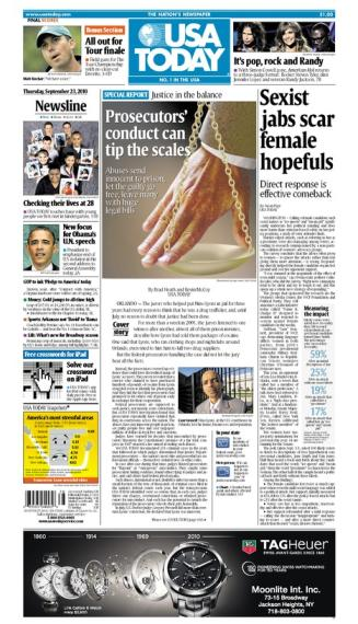 09/23/2010 Issue of USA TODAY