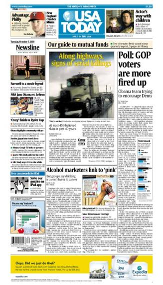 10/05/2010 Issue of USA TODAY