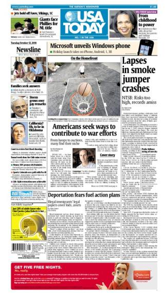 10/12/2010 Issue of USA TODAY