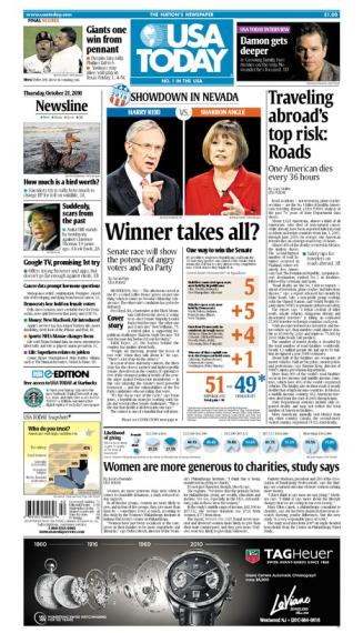 10/21/2010 Issue of USA TODAY