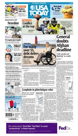 10/25/2010 Issue of USA TODAY