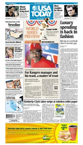 10/27/2010 Issue of USA TODAY