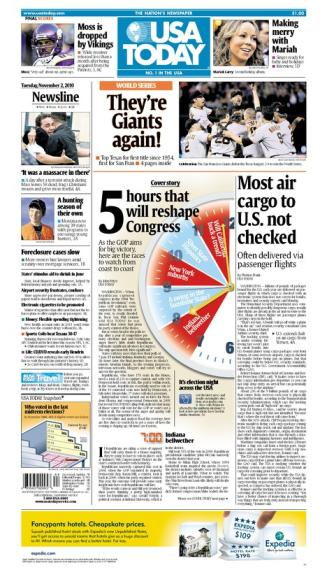 11/02/2010 Issue of USA TODAY