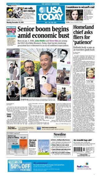 11/15/2010 Issue of USA TODAY