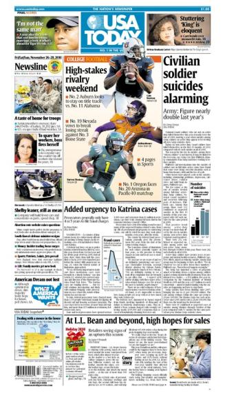 11/26/2010 Issue of USA TODAY