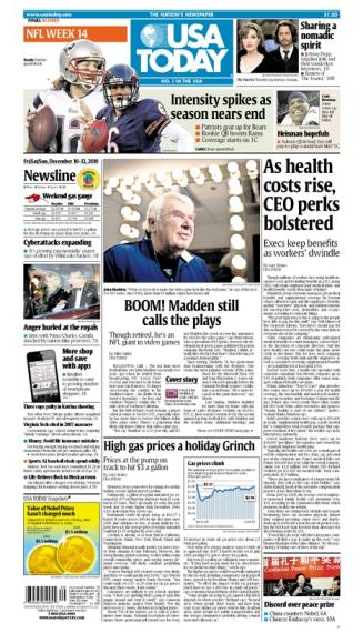 12/10/2010 Issue of USA TODAY