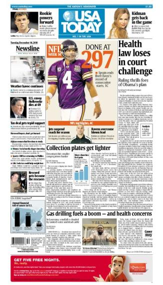 12/14/2010 Issue of USA TODAY