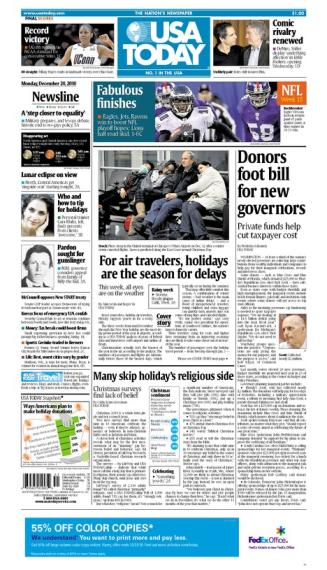 12/20/2010 Issue of USA TODAY
