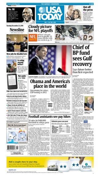12/21/2010 Issue of USA TODAY