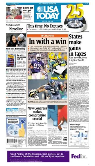 01/03/2011 Issue of USA TODAY