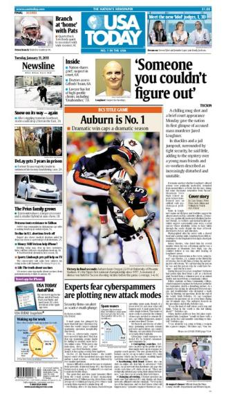 01/11/2011 Issue of USA TODAY