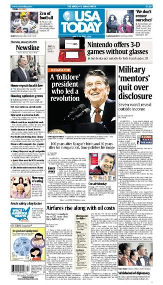01/20/2011 Issue of USA TODAY