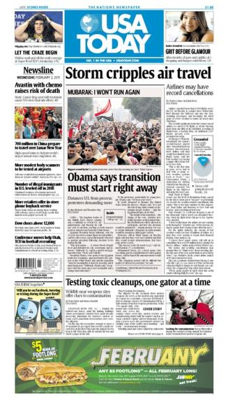 02/02/2011 Issue of USA TODAY