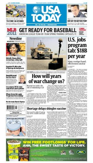 02/09/2011 Issue of USA TODAY