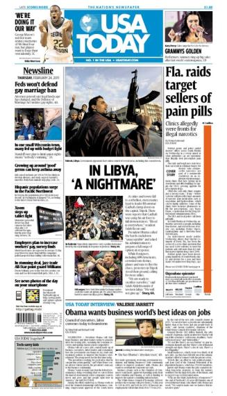 02/24/2011 Issue of USA TODAY