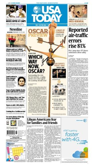 02/25/2011 Issue of USA TODAY