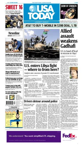 03/21/2011 Issue of USA TODAY