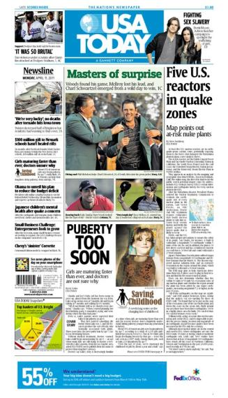 04/11/2011 Issue of USA TODAY