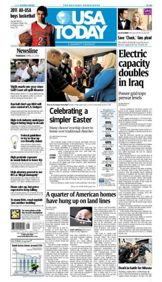 04/21/2011 Issue of USA TODAY