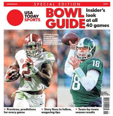 2015 College Bowl Guide Special Edition - Alabama - Michigan State Cover