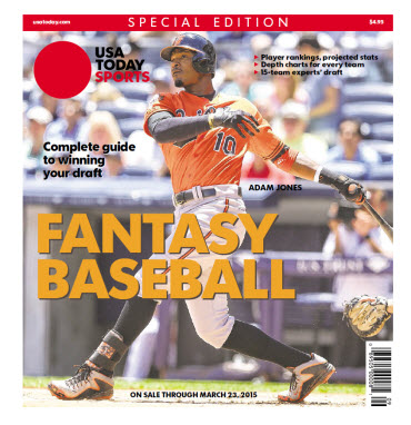 Fantasy Baseball 2015 Special Edition - Adam Jones Cover