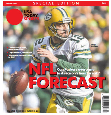 USA TODAY Sports  Special Edition - NFL Forecast  2015 - Aaron Rodgers Cover