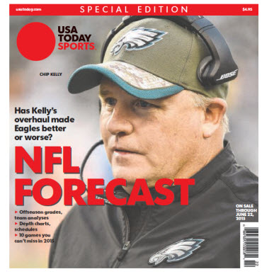 USA TODAY Sports  Special Edition - NFL Forecast  2015 - Chip Kelly Cover