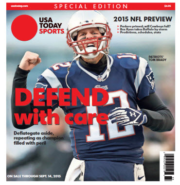 2015 NFL Preview Special Edition - Tom Brady Cover