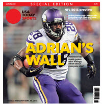 2015 NFL Preview Special Edition - Adrian Peterson Cover