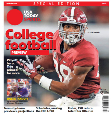 College Football Preview 2016 Special Edition - Alabama Cover