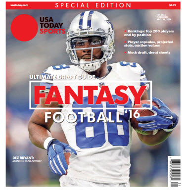 USA TODAY 2016 Fantasy Football Guide Special Edition - Cowboys Cover