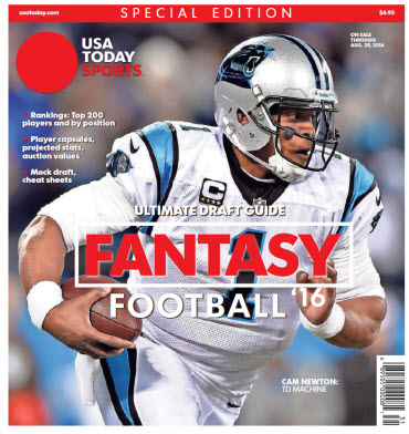 USA TODAY 2016 Fantasy Football Guide Special Edition - Panthers Cover